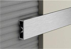 Алюминиевый профиль Profilpas Cerfix Prolist X Design, декоративная накладка для плитки 7*25*2700мм. Платина