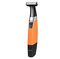 Триммер Kemei KM-1910 оранжевый | машинка для стрижки бороды 4 в 1 | бритва мужская, фото 1