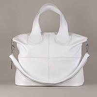 Кожаная сумка модель 22 белый флотар, фото 1