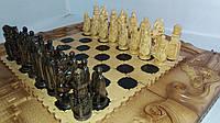 Шахматы - нарды 70х70 Подарочные резные Рыцарские