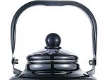 Емальований чайник з рухомою ручкою Benson BN-107 чорний з малюнком (3.3 л), фото 3