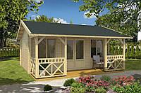 Дом деревянный из профилированного бруса 3.9х5.6. Кредитование строительства деревянных домов