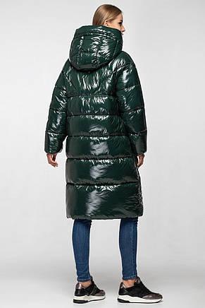 Зимняя теплая куртка KTL-323 из новой коллекции KATTALEYA темно-зеленого цвета, фото 2