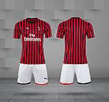 Футбольная форма Милан домашняя  2019/20, фото 4