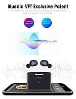 Беспроводные миниатюрные наушники Bluedio T-elf mini Air pod Bluetooth 5.0 Black, фото 3
