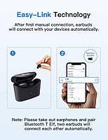 Беспроводные миниатюрные наушники Bluedio T-elf mini Air pod Bluetooth 5.0 Black, фото 5