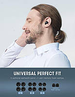 Беспроводные миниатюрные наушники Bluedio T-elf mini Air pod Bluetooth 5.0 Black, фото 8