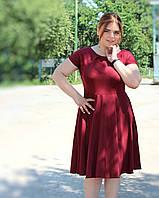 Красивое бордовое платье больших размеров