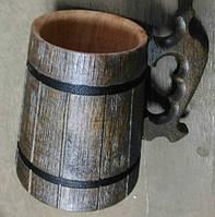 Пивной бокал из дерева 0,6 л.