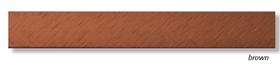Алюминиевый профиль Profilpas Cerfix Prolist X Design, декоративная накладка для плитки 7*25*2700мм. Коричневый