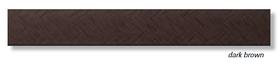 Алюминиевый профиль Profilpas Cerfix Prolist X Design, декоративная накладка для плитки 7*25*2700мм. Темно-коричневый