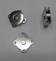 Магнитные кнопки пришивные 18 мм MP01-1, цвет никель