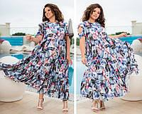 """Длинное платье больших размеров """" Софт """" Dress Code, фото 1"""