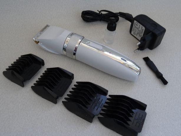 Профессиональная машинка - триммер для стрижки волос PROMOTEC PM-357 с насадками