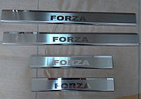 Накладки на пороги Zaz Forza2011- 4шт.  premium