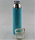 Вакуумный термос из нержавеющей стали BENSON BN-46 Голубой (350 мл) | термочашка, фото 5