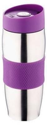 Термокружка металлическая с поилкой Benson BN-40 фиолетовая (380 мл)   термостакан из нержавеющей стали   термочашка