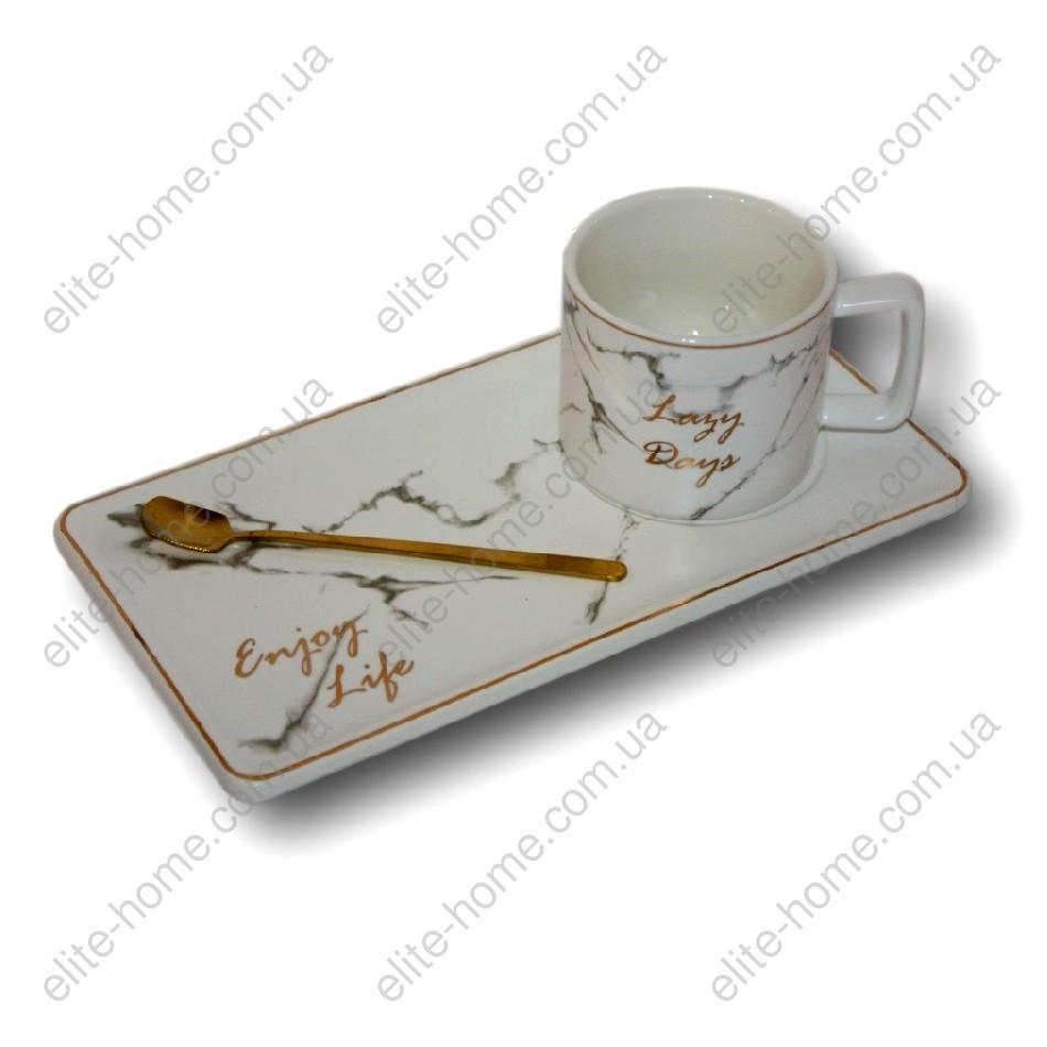 Кофейно-чайный набор 3 предмета (керамика) 3016-26