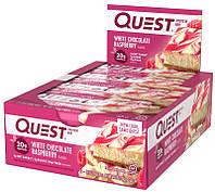 Quest Protein Bar -  12x60g white chocolate raspberry
