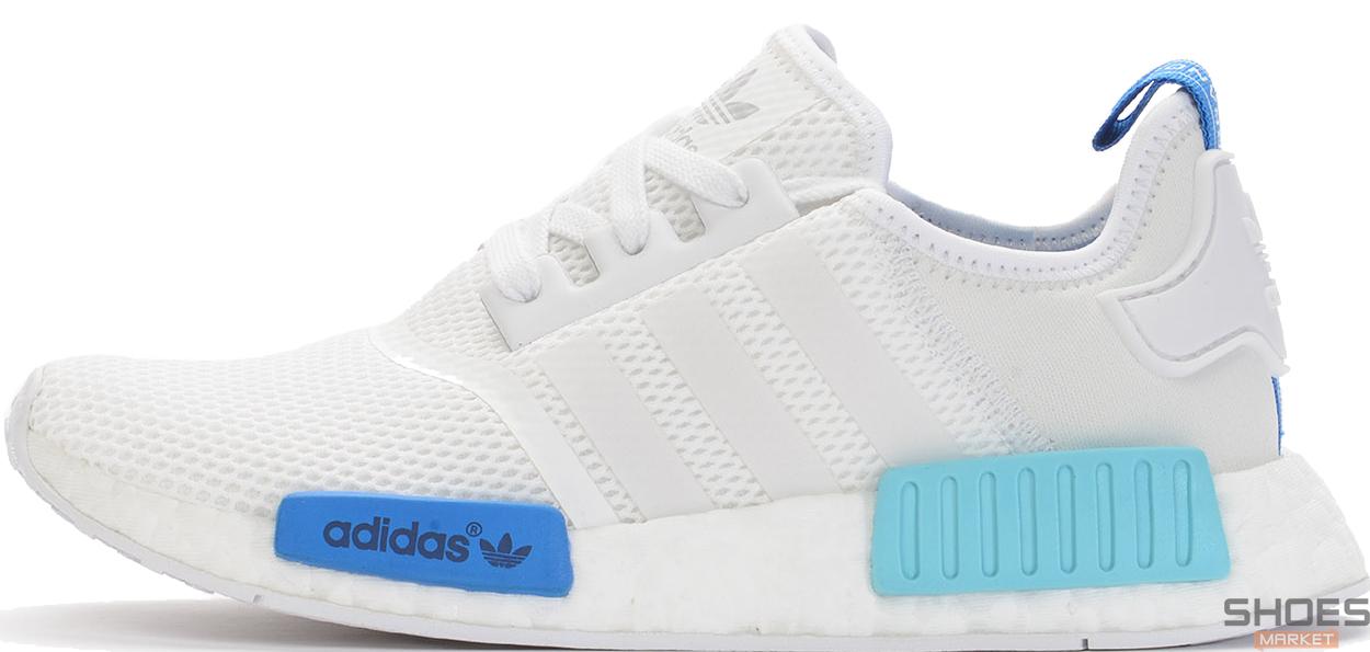 Женские кроссовки Adidas NMD R1 Blue Glow S75235, Адидас НМД