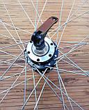 Вело колесо 24  заднее под кассету под дисковый тормоз, фото 2