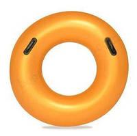 Детский надувной золотистый круг с ручками BESTWAY 36127   надувной круг для детей 91 см