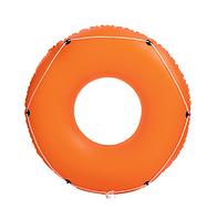 Детский надувной оранжевый круг с канатом BESTWAY 36120   надувной круг для детей 119 см