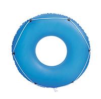 Детский надувной синий круг с канатом BESTWAY 36120   надувной круг для детей 119 см