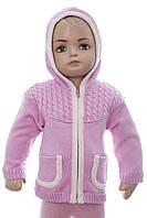Куртка для малыша вязаная на флисе