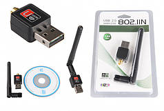 USB Wi-Fi сетевой адаптер HLV 150 Мбит/с 802.11n с антенной 5db