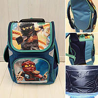 Школьный ортопедический рюкзак Ниндзяго для мальчика 34*26*17 см, фото 1
