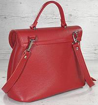552-1 Натуральная кожа, Сумка женская красная на поворотном замке Сумка кожаная сумка красная сумка кожаная, фото 3