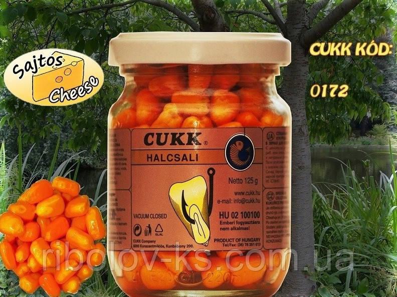 Наживка кукуруза Cukk крашен. в стек. банке 125гр. сыр