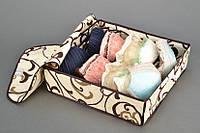Органайзер для белья с крышкой 7 отделений Песочный