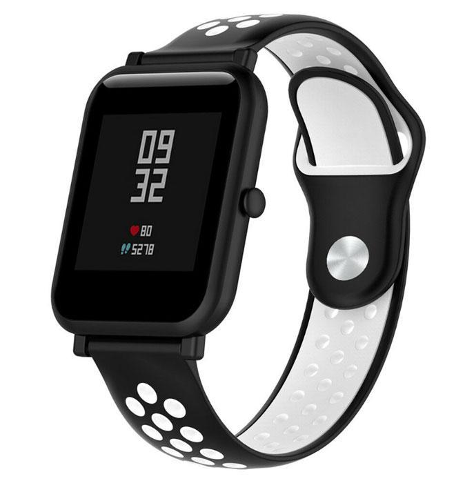 Спортивный ремешок Primo Perfor Sport для часов Xiaomi Amazfit Bip/Bip Lite/Amazfit Bip GTS - Black&White