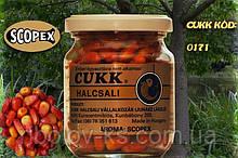 Кукуруза Cukk крашен. в стек. банке 125гр. скопекс