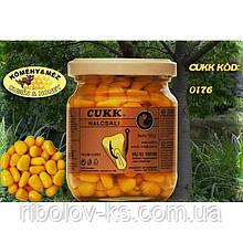 Наживка кукуруза Cukk крашен. в стек. банке 125гр.тмин с медом