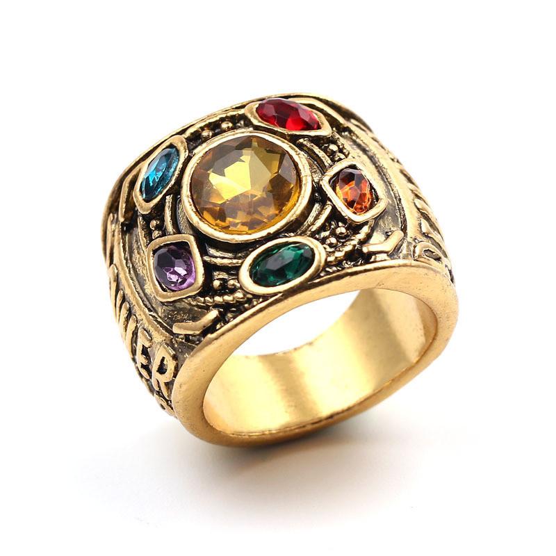 Перстень Таноса SUNROZ Thanos Ring розмір 7 Золотистий (SUN4815)