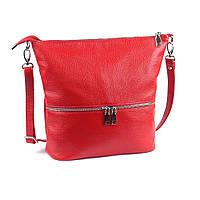 Шкіряна сумка модель 42 червоний флотар, фото 1