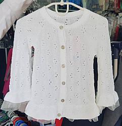 Кофта детская «Breeze» белого цвета на пуговицах