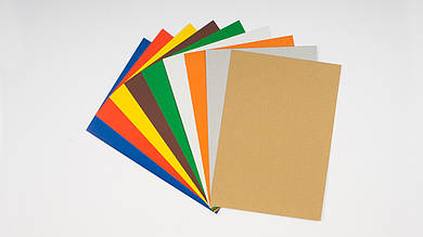 Набор цветного картона. 9 листов A4 (7 цв + золото + серебро). ТЕТРАДА - ТЕ254