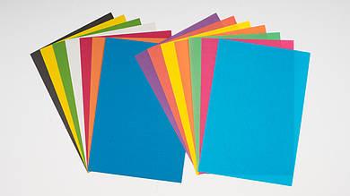 Набор белого и цветного картона и бумаги. 7 + 7 листов A4. ТЕТРАДА - ТЕ253