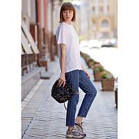 Кожаная плетеная женская сумка Пазл M  угольно-черная, фото 1