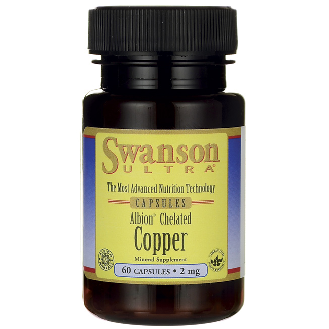 Хелат меди Swanson Albion Chelated Copper 2mg 60caps