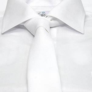 Белый Узкий Матовый Галстук Gdg-0009, фото 2
