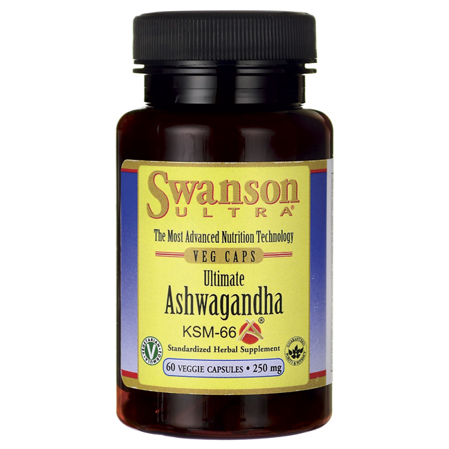 Ашваганда Свансон Swanson Ultimate Ashwagandha 250mg 60 капсул