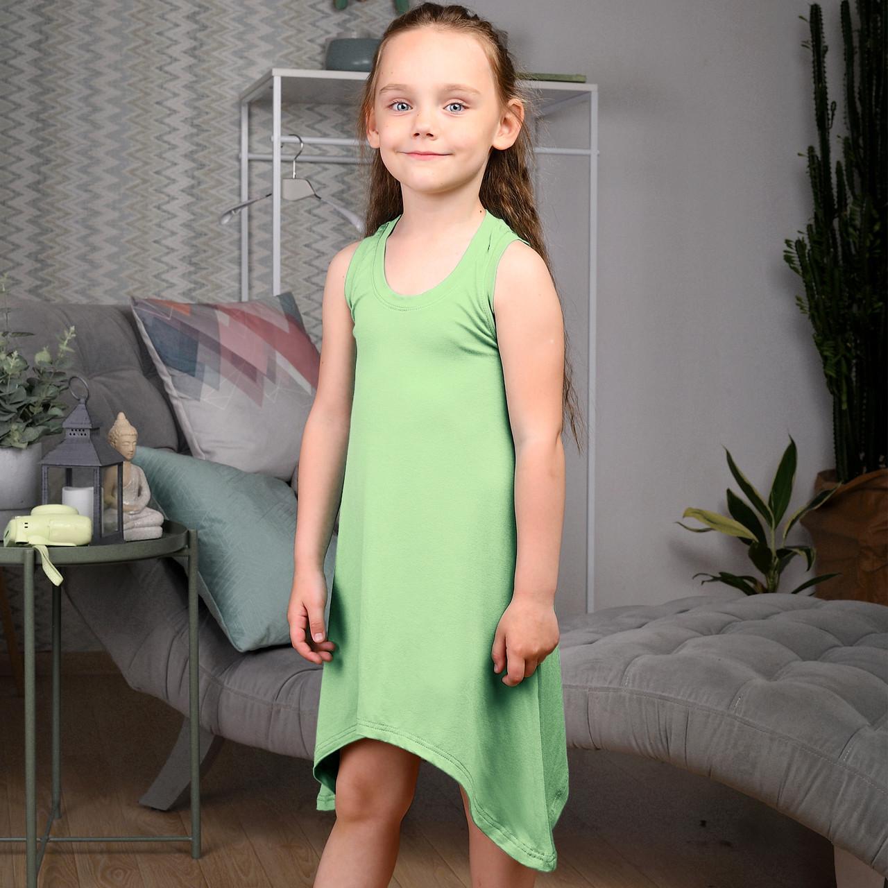 Сарафан летний для девочки Салатовый    Дитячий літній сарафан