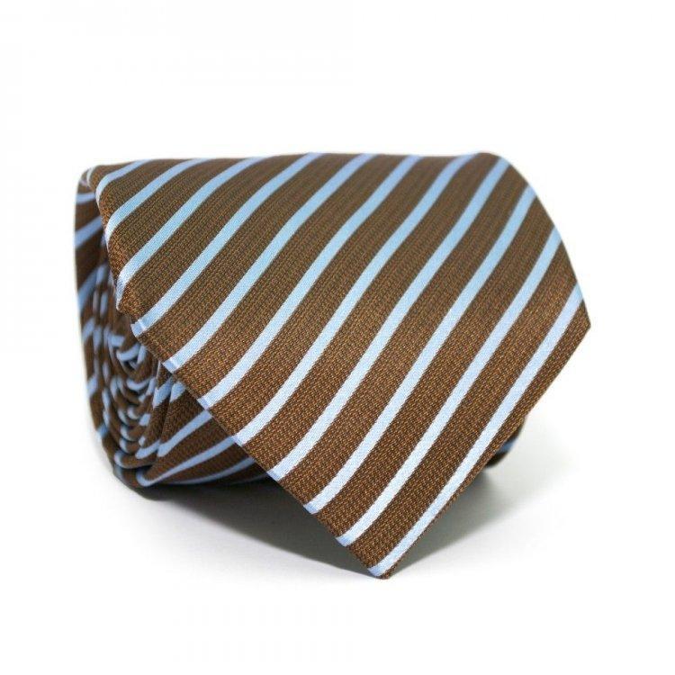 Краватка Коричневий В Блакитну Смужку Gin-2287