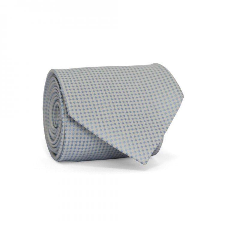 Краватка Чоловічий Білий В Блакитні Точки Gin-2179