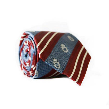 Краватка Чоловічий Бордовий Синій Gin-2102, фото 2